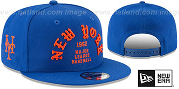 Mets GOTHIC-ARCH SNAPBACK Royal Hat by New Era