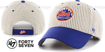 Mets 'HOME-RUN PINSTRIPE STRAPBACK' Hat by Twins 47 Brand