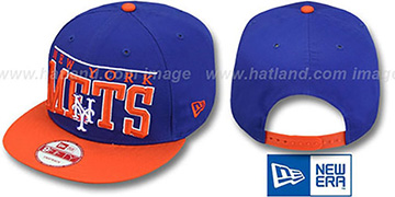 Mets LE-ARCH SNAPBACK Royal-Orange Hat by New Era