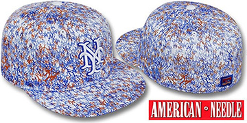 Mets 'MATISE' White-Team Color Fitted Hat by American Needle
