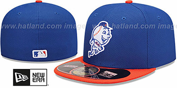 Mets 'MLB DIAMOND ERA' 59FIFTY Royal-Orange BP Hat by New Era