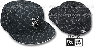 Mets 'MLB FLOCKING' Black Fitted Hat by New Era