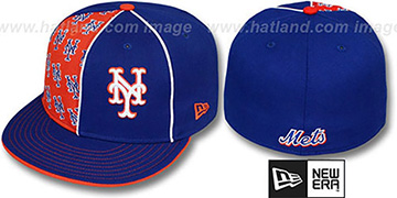 Mets MULTIPLY Royal-Orange Fitted Hat by New Era