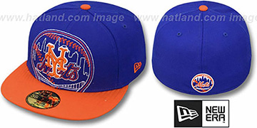 Mets NEW MIXIN Royal-Orange Fitted Hat by New Era