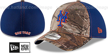 Mets REALTREE NEO MESH-BACK Flex Hat by New Era
