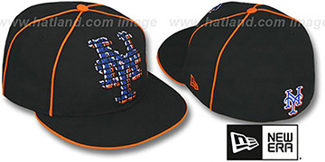 Mets REPEAT BIG-ONE Black Fitted Hat by New Era