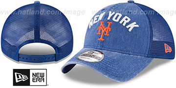 Mets RUGGED-TEAM TRUCKER SNAPBACK Royal Hat by New Era