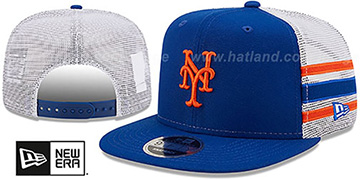Mets SIDE-STRIPE TRUCKER SNAPBACK Royal Hat by New Era