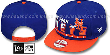 Mets SLICE-N-DICE SNAPBACK Royal-Orange Hat by New Era