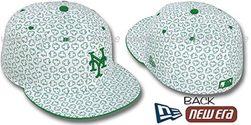 Mets 'ST PATS FLOCKING' White Fitted Hat by New Era