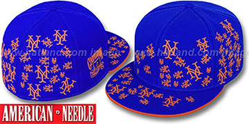 Mets STARSTRUCK Royal Fitted Hat by American Needle