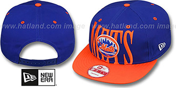 Mets STEP-ABOVE SNAPBACK Royal-Orange Hat by New Era