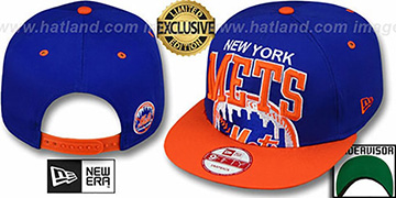 Mets 'SUPER-LOGO ARCH SNAPBACK' Royal-Orange Hat by New Era