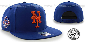 Mets 'SURE-SHOT SNAPBACK' Royal Hat by Twins 47 Brand