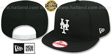 Mets TEAM-BASIC SNAPBACK Black-White Hat by New Era