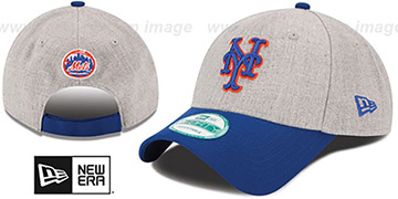 Mets 'THE-LEAGUE HEATHER STRAPBACK' Grey-Royal Hat by New Era