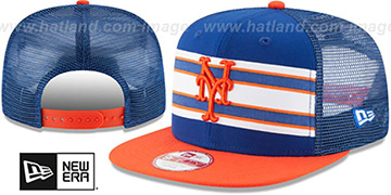 Mets 'THROWBACK-STRIPE SNAPBACK' Royal-Orange Hat by New Era