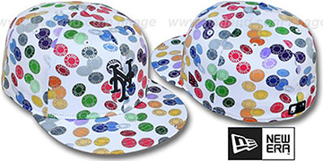Mets TOKENS White-Multi Fitted Hat by New Era