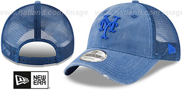 Mets TONAL-WASHED TRUCKER SNAPBACK Royal Hat by New Era