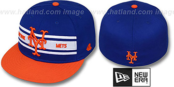 Mets 'TRIBAND' Royal-Orange Fitted Hat by New Era