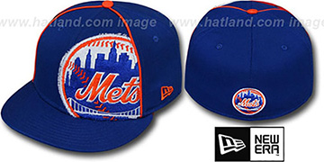 Mets TRIBULATOR Royal Fitted Hat by New Era