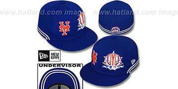 Mets TWO-BIT Royal-White Fitted Hat by New Era