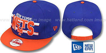 Mets 'WORDSTRIPE SNAPBACK' Royal-Orange Hat by New Era