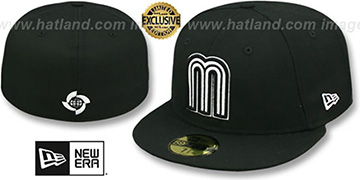 Mexico 'PERFORMANCE WBC' Black-White Hat by New Era