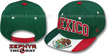 Mexico 'SUPERSTAR SNAPBACK' Green Hat by Zephyr