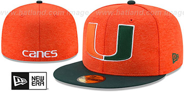Miami 'HEATHER-HUGE' Orange-Green Fitted Hat by New Era