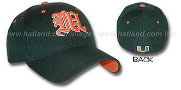 Miami 'KANJI' DH Fitted Hat by ZEPHYR - dark green