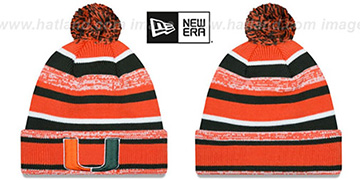 Miami NCAA-STADIUM Knit Beanie Hat by New Era