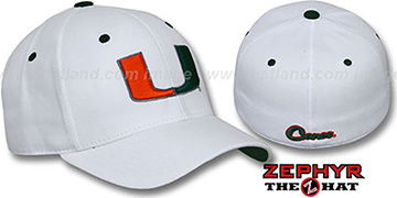 Miami 'U DH' Fitted Hat by Zephyr - white