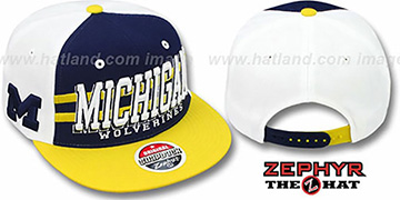 Michigan '2T SUPERSONIC SNAPBACK' Navy-Gold Hat by Zephyr