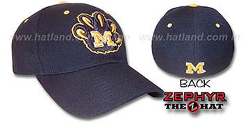 Michigan 'DHS X-LINE' Fitted Hat by Zephyr - navy