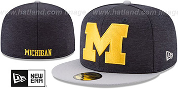 Michigan 'HEATHER-HUGE' Navy-Grey Fitted Hat by New Era