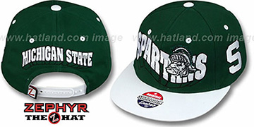 Michigan State '2T FLASHBACK SNAPBACK' Green-White Hat by Zephyr