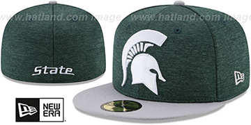 Michigan State HEATHER-HUGE 2 Green-White Fitted Hat by New Era