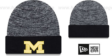 Michigan TEAM-RAPID Navy-White Knit Beanie Hat by New Era