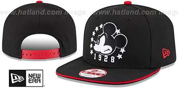 Mickey Mouse 'HERO SANDWICH SNAPBACK' Black Hat by New Era