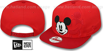 Mickey Mouse 'PANEL POP SNAPBACK' Red Hat by New Era