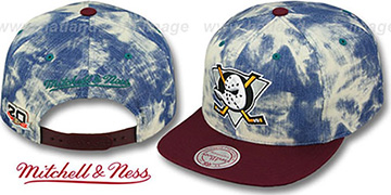 Mighty Ducks 'ACID-WASH SNAPBACK' Hat by Mitchell & Ness