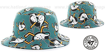Mighty Ducks 'BRAVADO BUCKET' Hat by Twins 47 Brand