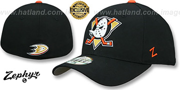 Mighty Ducks SHOOTOUT Black Fitted Hat by Zephyr
