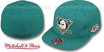 Mighty Ducks 'VINTAGE CLASSIC' Teal Fitted Hat by Mitchell & Ness
