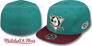 Mighty Ducks 'VINTAGE CLASSIC' Teal-Plum Fitted Hat by Mitchell & Ness