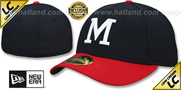 Milwaukee Braves LOW-CROWN 1965-77 COOPERSTOWN Fitted Hat by New Era