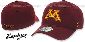 Minnesota 'DH-2'Fitted Burgundy Hat by ZEPHYR