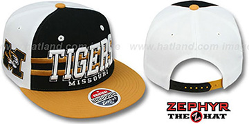 Missouri '2T SUPERSONIC SNAPBACK' Black-Gold Hat by Zephyr