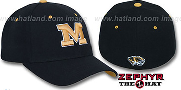 Missouri 'DH' Fitted Hat by Zephyr - black